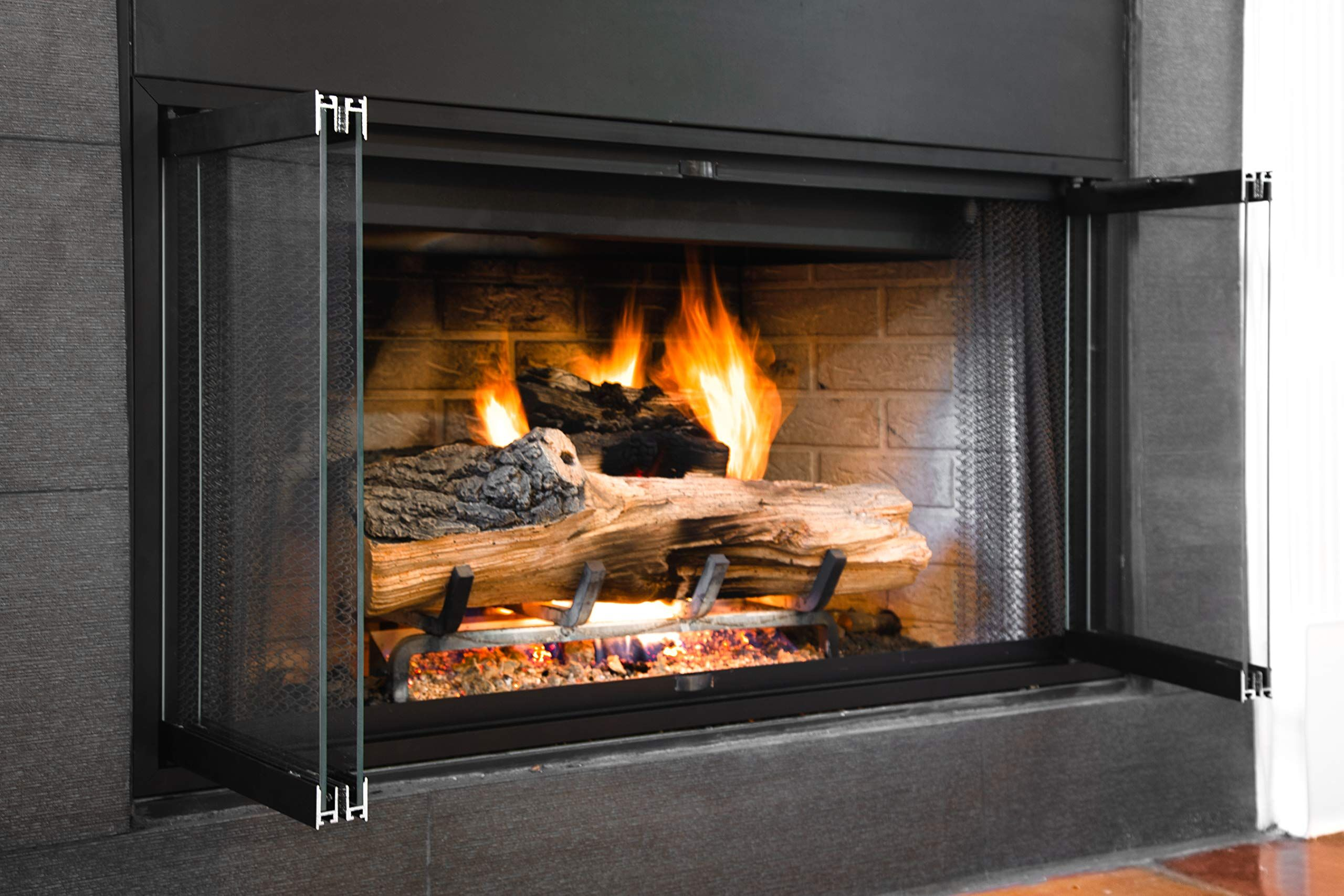 Fireplace Glass Doors For Majestic Prefab Fireplaces Fits 42 X 21