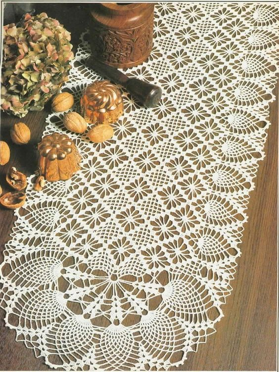 See free crochet pattern for this beautiful \'Oval Runner\'   Caminos ...