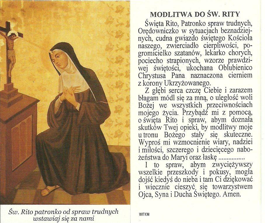 Modlitwa Do św Rity Modlitwy Karteczki Prayers Pray I Psalms
