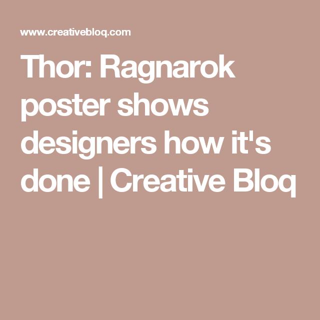thor ragnarok poster shows