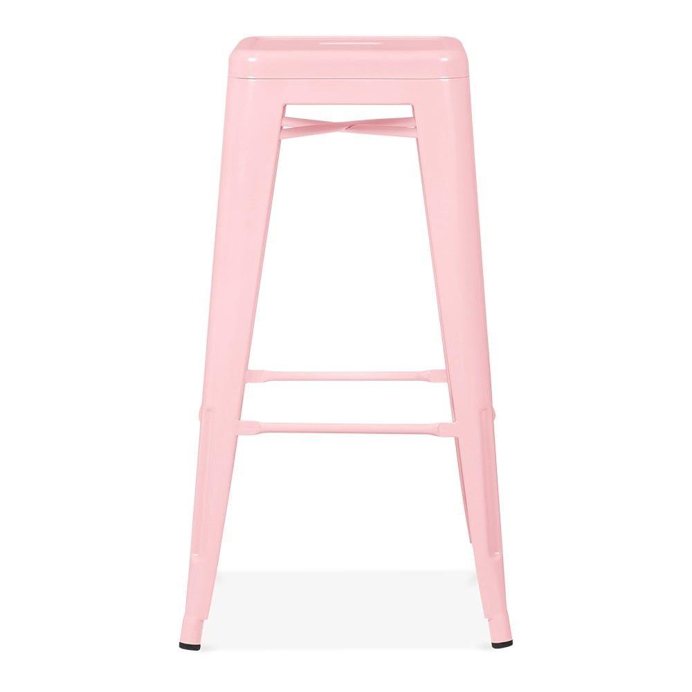 xavier pauchard tolix style stool powder coated  pastel