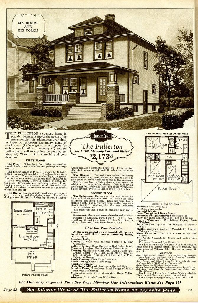 Sears Fousquare The Fullerton Vintage House Plans Vintage House Colonial Style Homes
