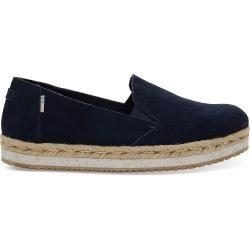 Photo of Toms Schuhe Dunkelblau Suede Palma Espadrilles Für Damen – Größe 38 TomsToms