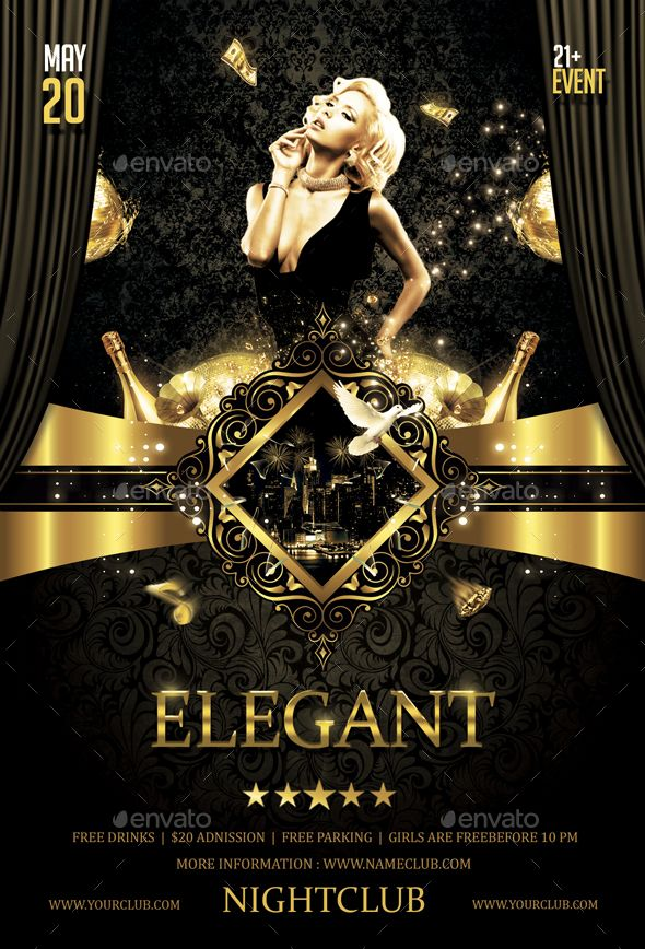 Elegant Party Flyer Party flyer, Flyer template and Elegant - party flyer
