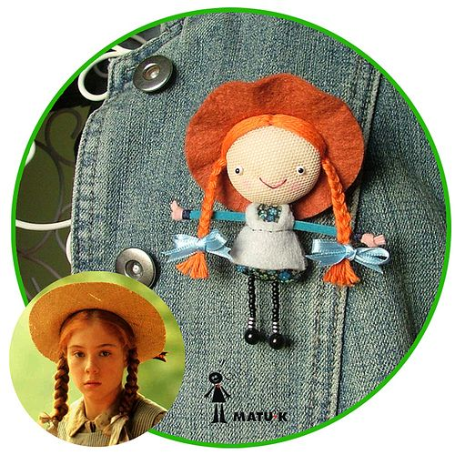 Ana de las tejas verdes broche green gables dolls and craft for Anne of green gables crafts