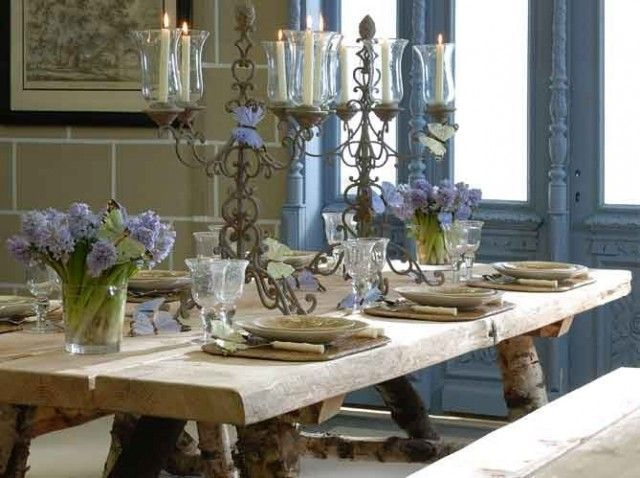 french inspired dining rooms and table settings inspiring interiors - Dining Room Table Settings