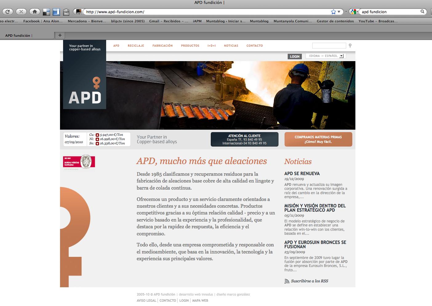 web Fundición APD