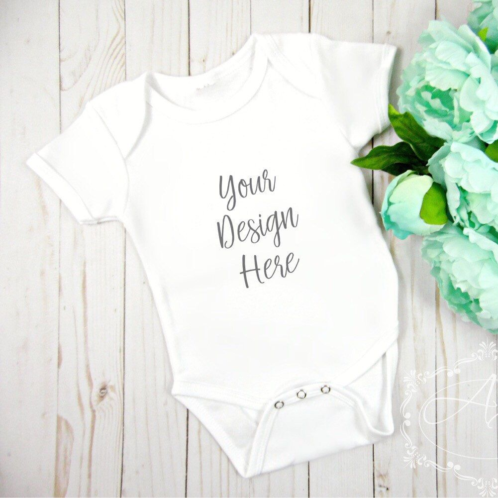 blank onesie mock up for your small biz creative needs