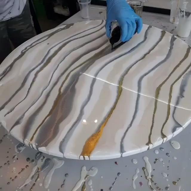 DIY Resin Art Fluid Paint Technique Mica Powder Tu