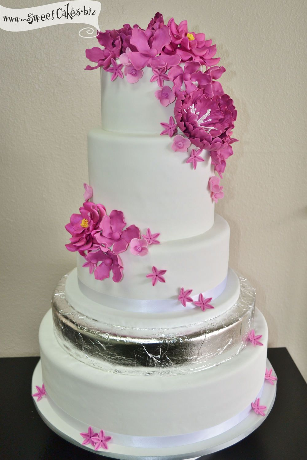 how to make a 5 layer wedding cake fuschia wedding cake www pixshark images galleries 15789