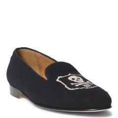 Needlepoint Skull Wool Loafer - Dress Shoes - RalphLauren.com