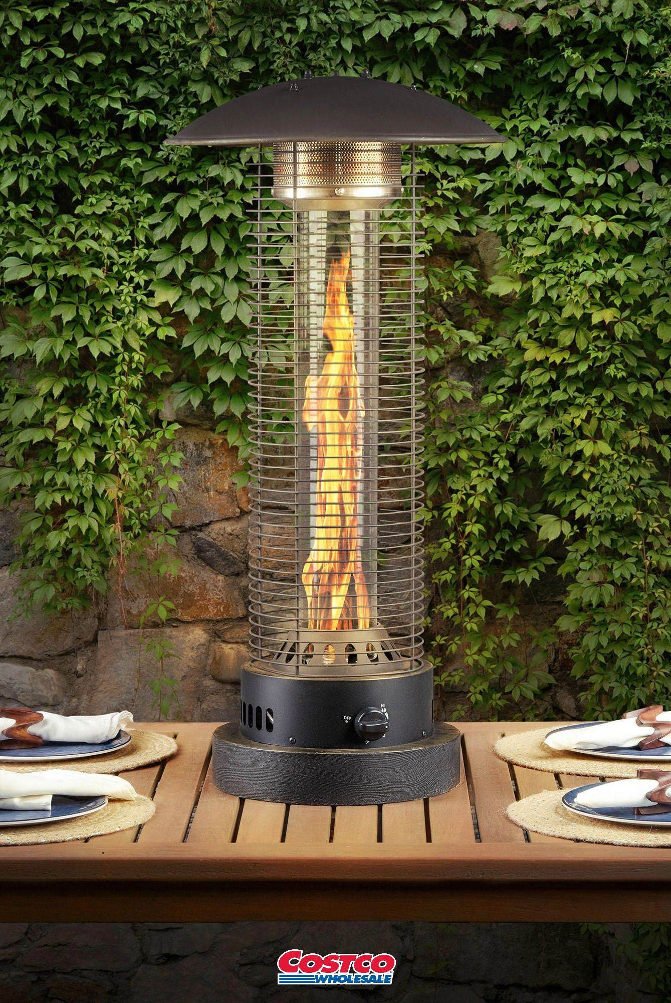 Northwoods Tabletop Heater Add The Powerful Element Of Fire To Your Outdoor Living Space With The Attractiv Tabletop Patio Heater Patio Heater Outdoor Heaters