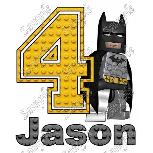 Batman Lego Birthday Personalized Custom T Shirt Iron on Transfer Decal #1 by www.shopironons.com
