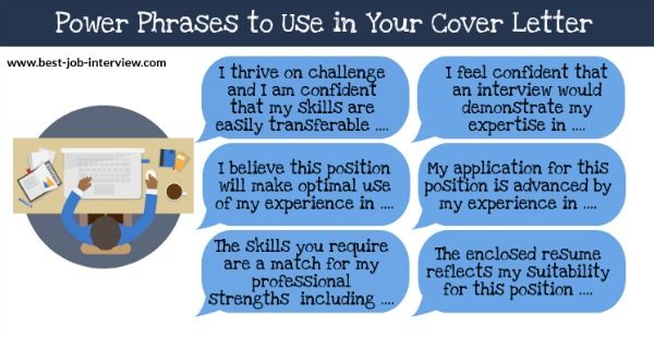 power phrases for cover letters