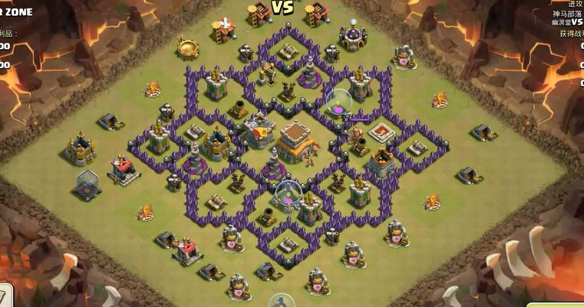 Clash Of Clans Town Hall Level 7 Base Layouts Coc Th7 Clash Of Clans Clash Of Clans Game Clash Of Clans Gems