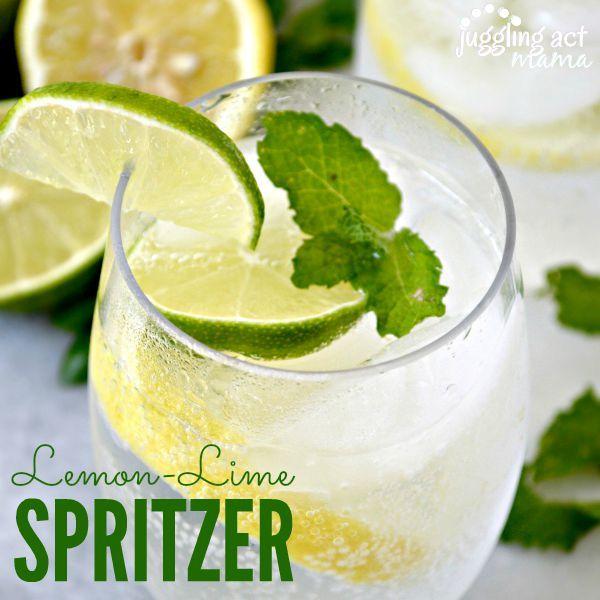 Lemon Lime Spritzer - a lovely crispy and bubbly drink