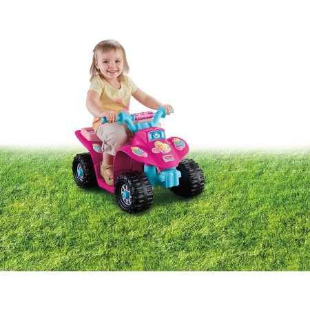 79b7fd8747a4f Fisher-Price Power Wheels Barbie Princess Lil  Quad 6-Volt Battery-Powered  Ride-On