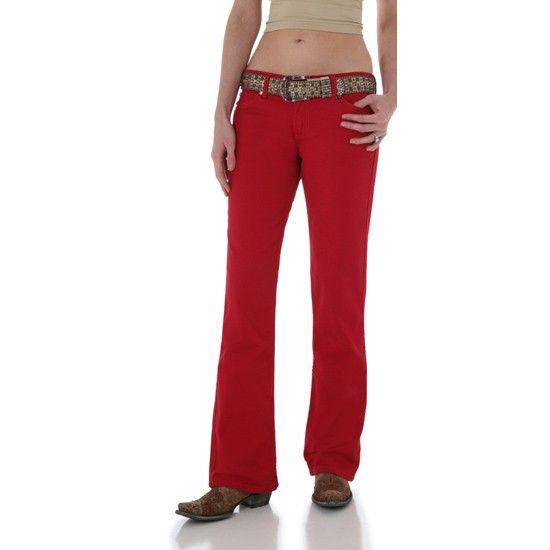 red bootcut jeans - Jean Yu Beauty