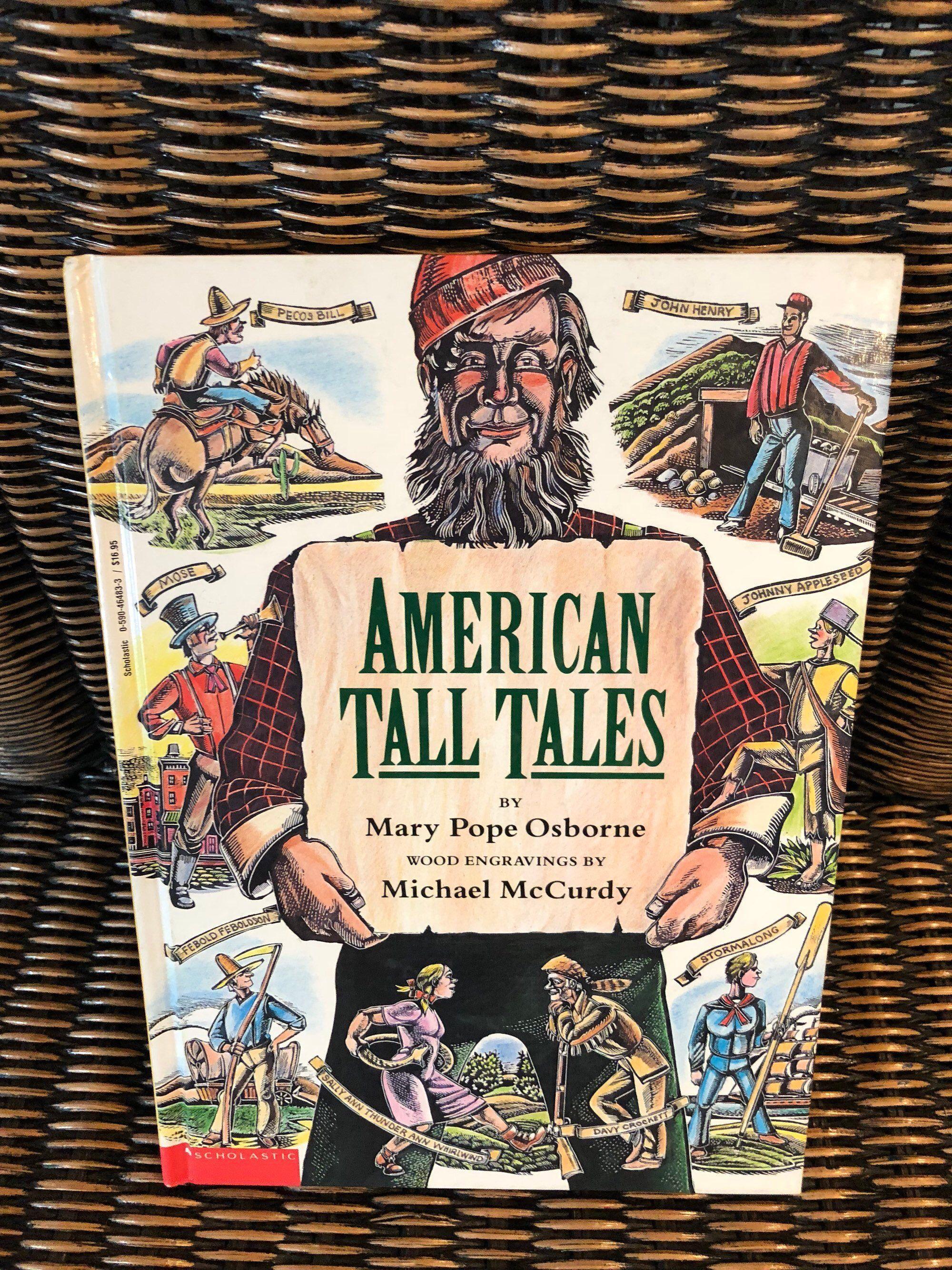 American Tall Tales Book Mary Pope Osborne Folk Story Folk