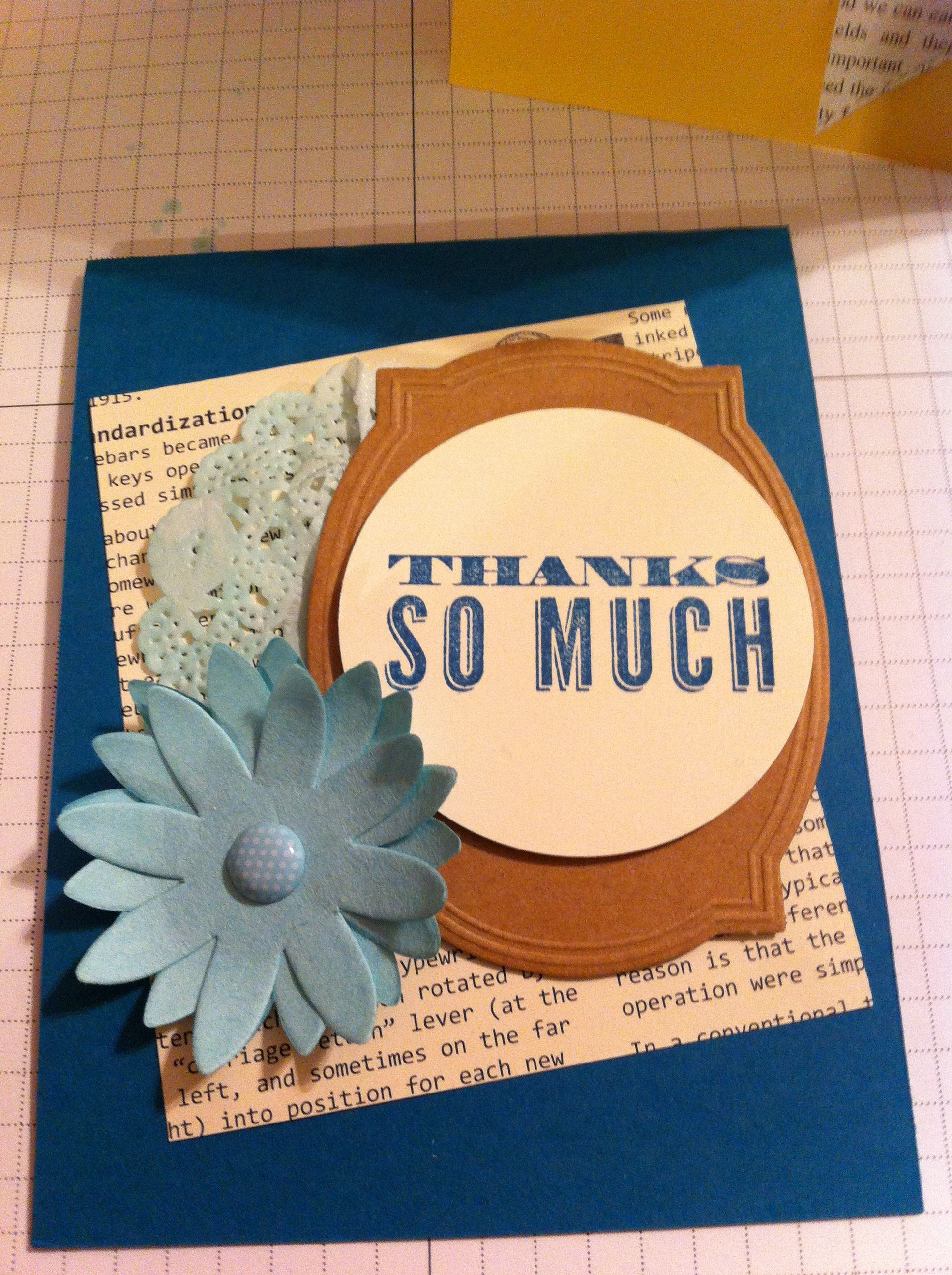 Card Making Class Ideas Part - 43: 21 -- One Of The Cards I Made At My Monthly Card Making