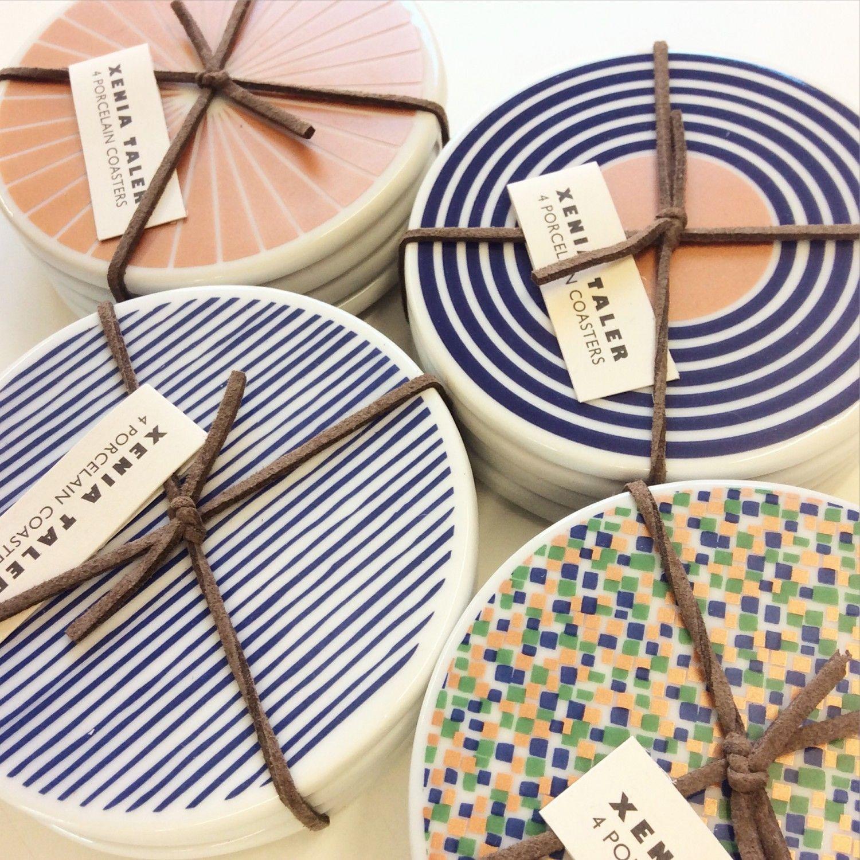 Porcelain coaster set ceramics coasters ceramic inspiration