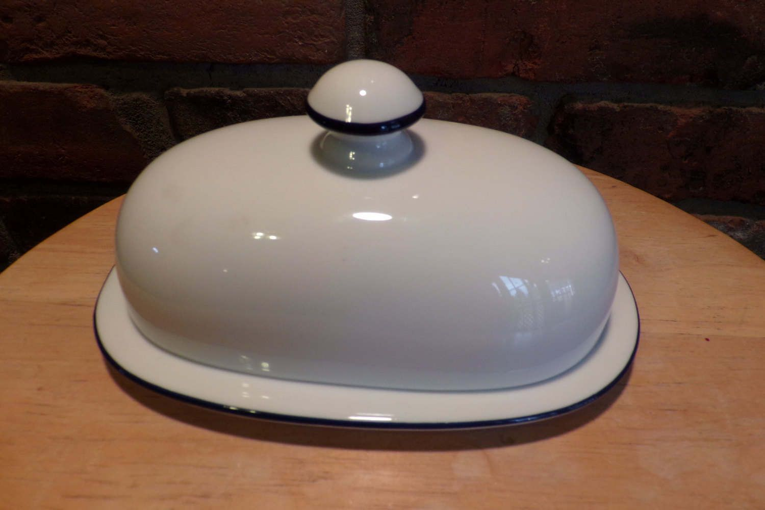 Dansk Bistro Christianshavn Blue Portugal Butter Dish And Etsy Butter Dish Dansk Blue