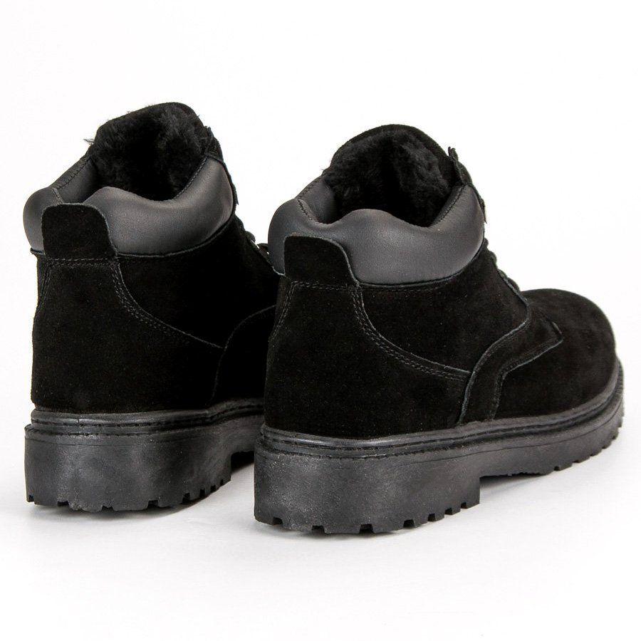 Trekkingowe Meskie Originalwalkmanshoes Original Walkman Shoes Czarne Ocieplane Skorzane Trapery Boots Shoes Winter Boot