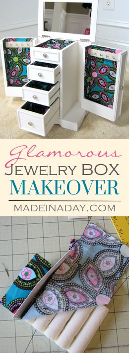 Glamorous Jewelry Box Makeover Makeover you old jewelry box with