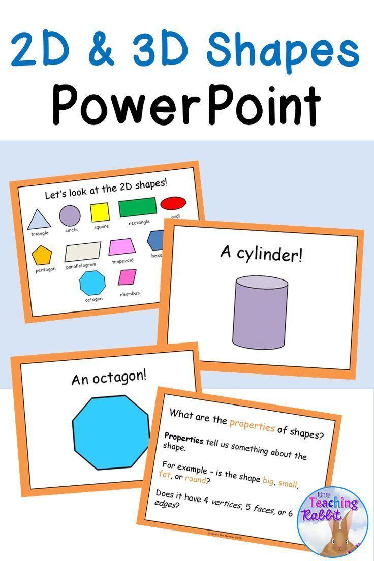 2D & 3D Shapes PowerPoint | School | 3d shapes powerpoint