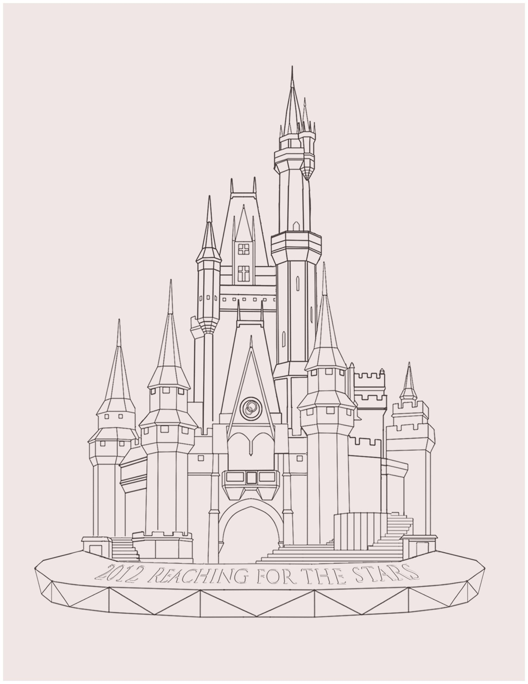 How To Draw Disney Castles My Blog Disney Castle Drawing