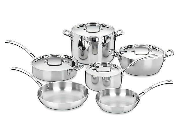 10 Pc French Classic Cookware Set On Onekingslane Com Cookware Set Stainless Steel Stainless Steel Cookware Cookware Set