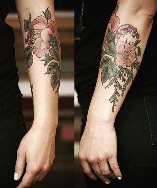 f32d877a1 Beautiful Forearm Flower Tattoo Ideas   Ink   Tattoos, Flower ...