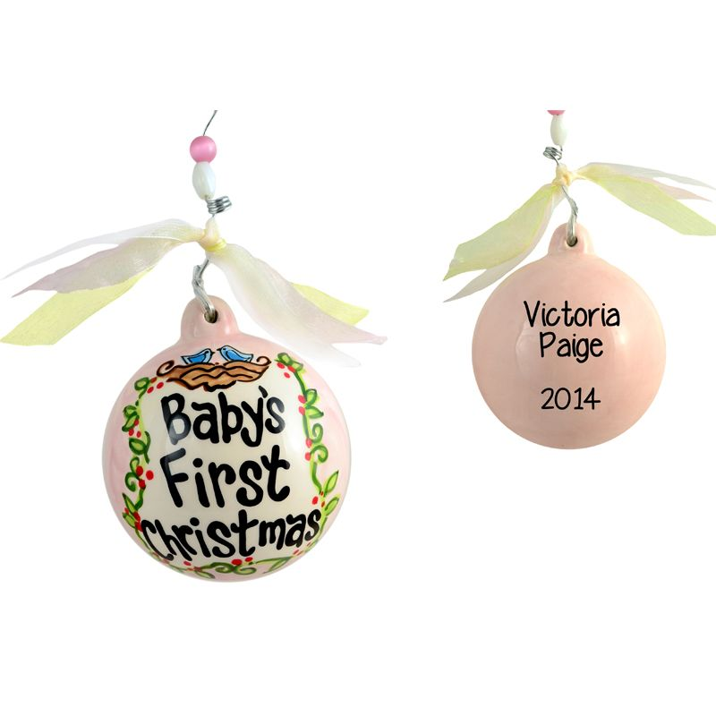 baby first christmas ceramic ornamant  Baby Girls First