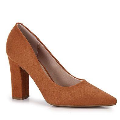 49d6ae8868 Sapato Scarpin Conforto Feminino Beira Rio - Caramelo