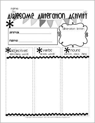 Alliteration Worksheet Kindergarten