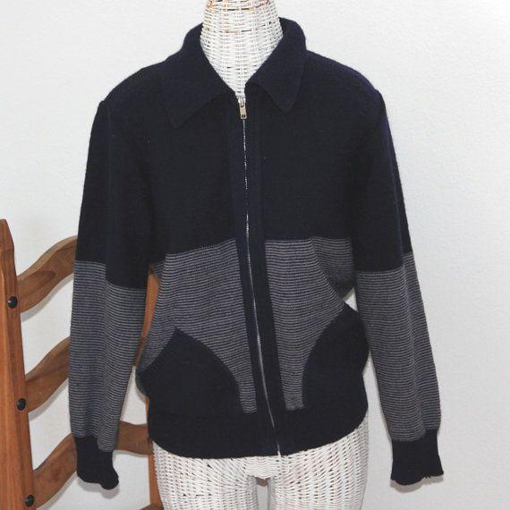 Mod Vintage ELIOS Knit Wool Sweater Jacket