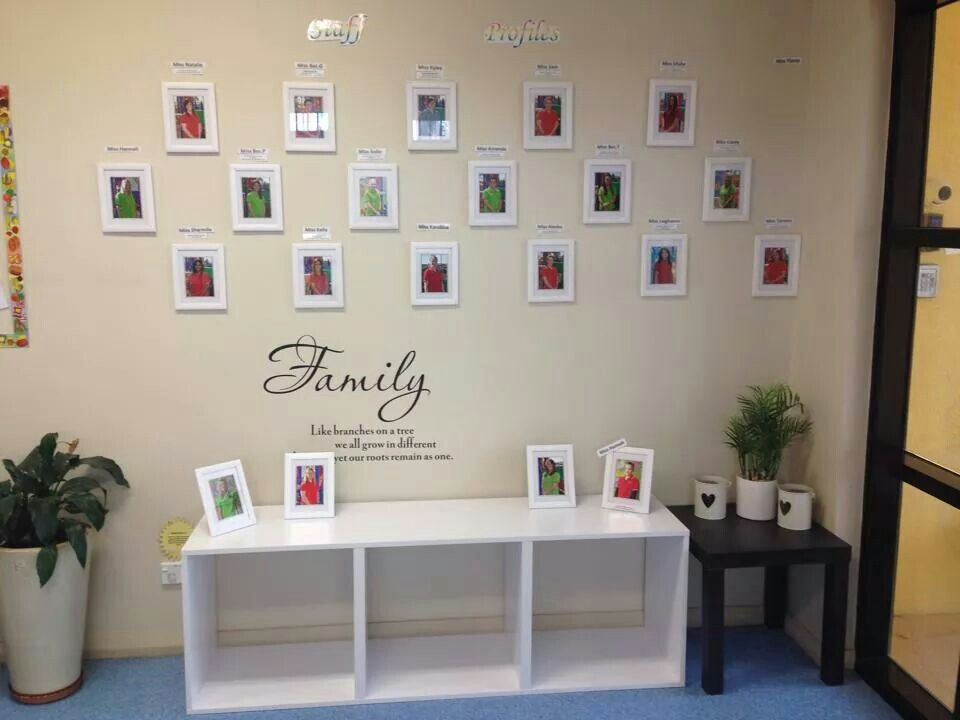 Staff photo wall work pinterest photo wall and for Family display board ideas