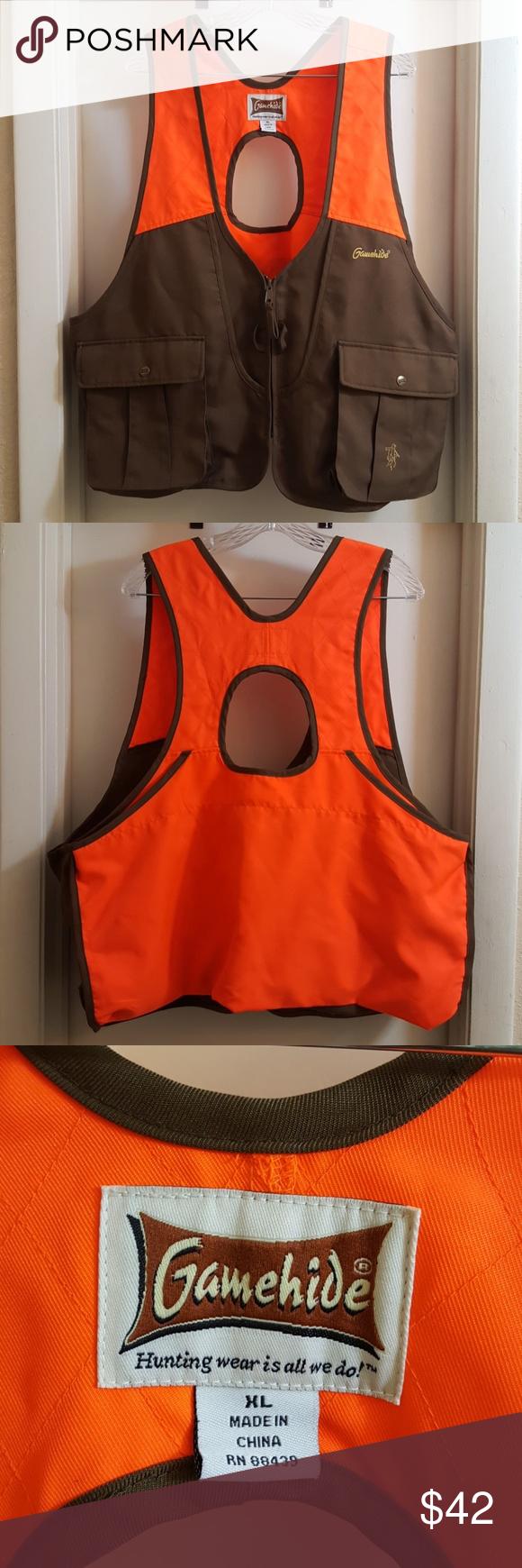 *SOLD* GameHide Hunting Safety Orange Vest XL Orange