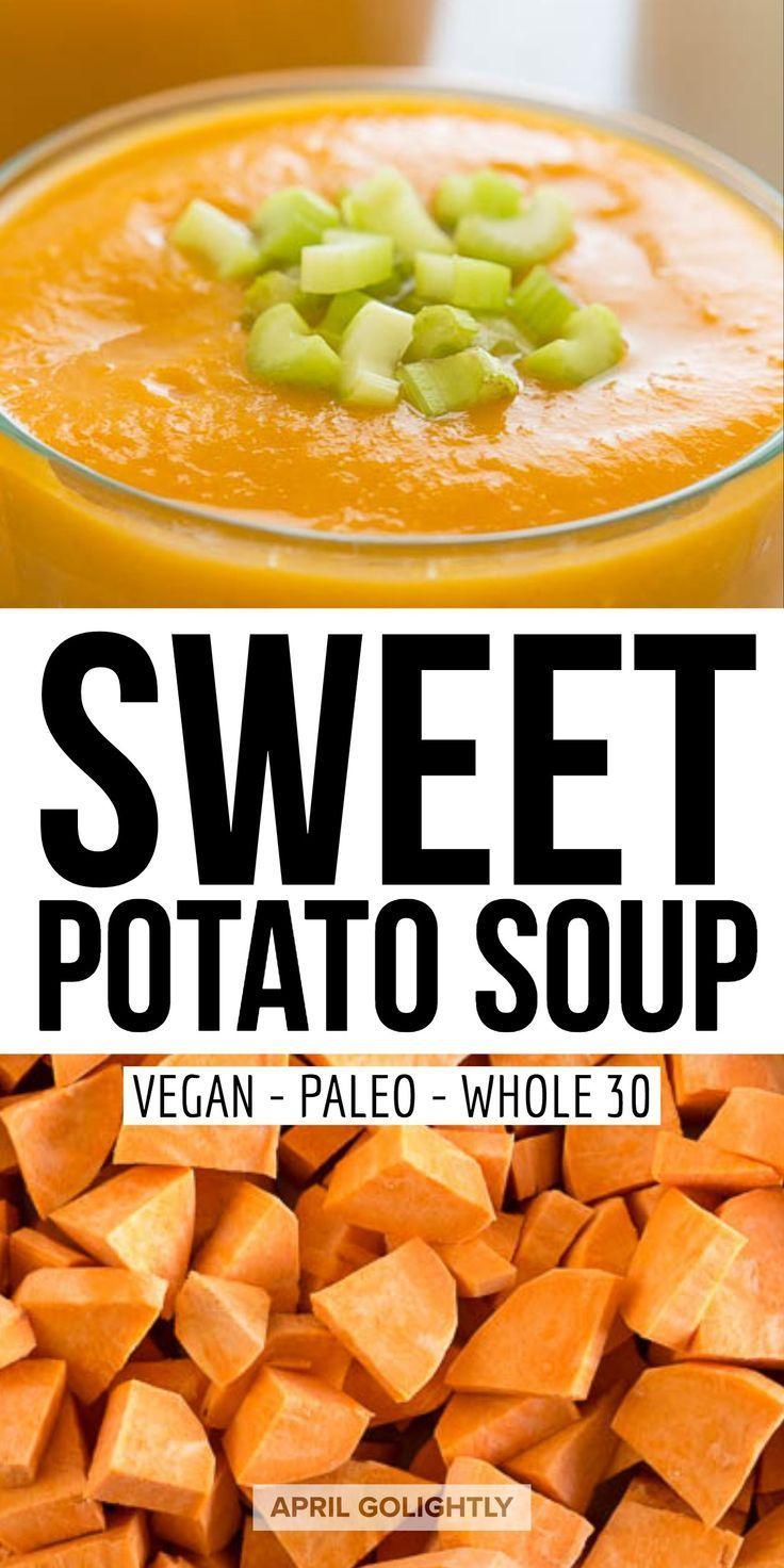 Easy Sweet Potato Soup Vegan #potatosoup
