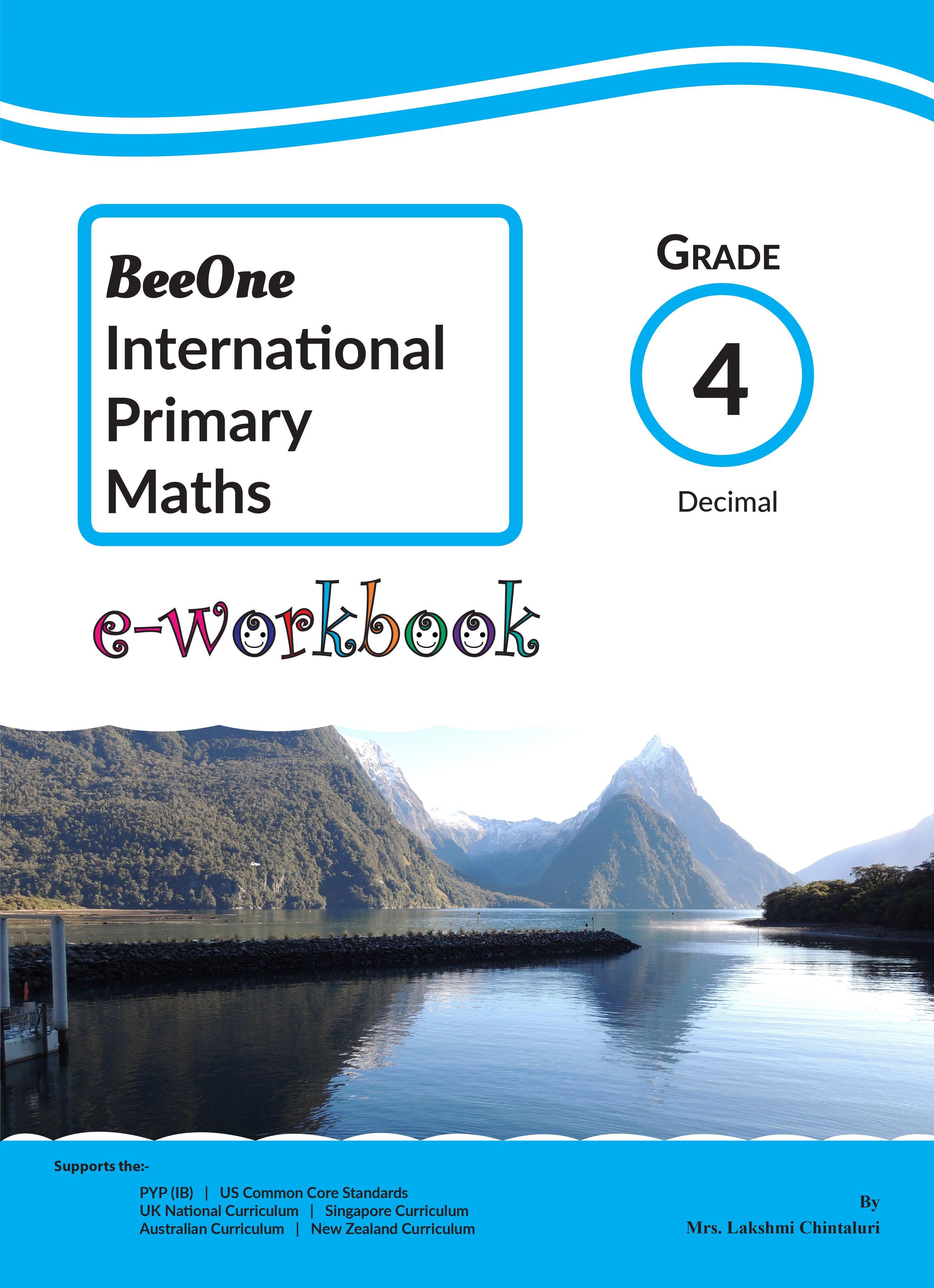 E Workbook For Just 1 Math Decimals 4th Grade Math Workbook [ 3582 x 2598 Pixel ]