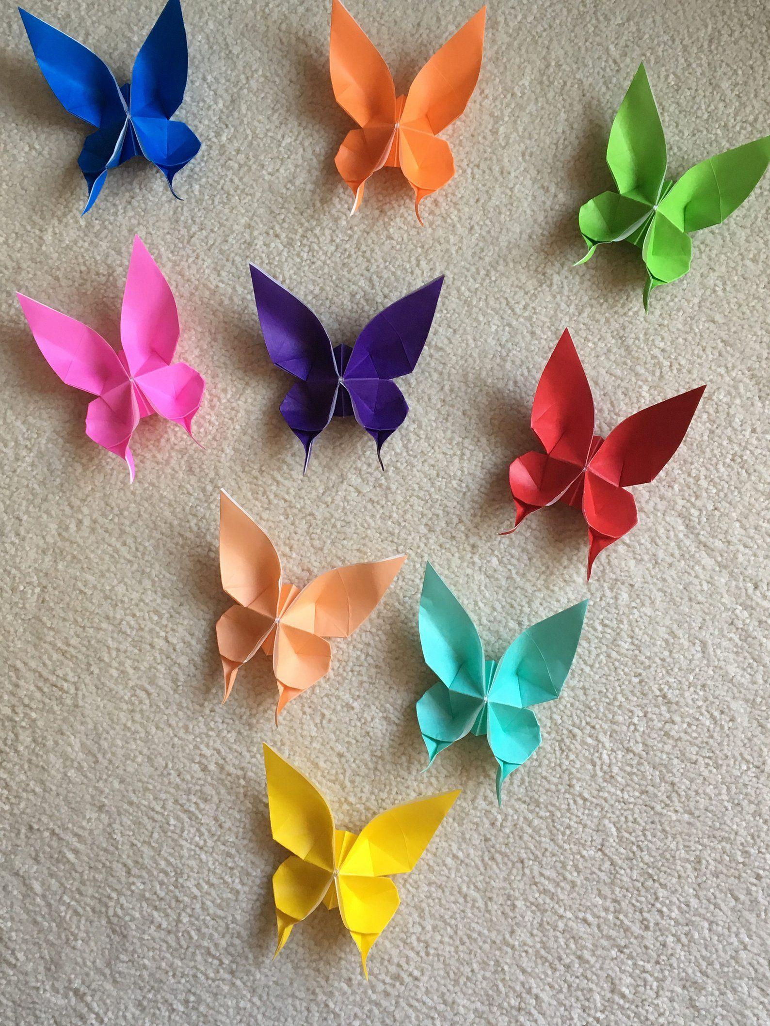 100 Origami Butterflies #dinnerideas2019