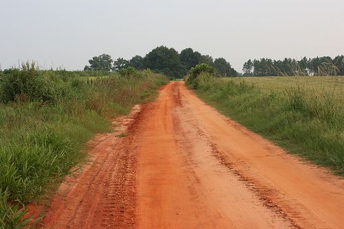 Red Clay Road Grady County Georgia Country Roads Scenery