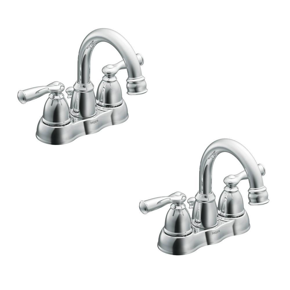 Moen Banbury 4 In Centerset 2 Handle Bathroom Faucet In Chrome 2