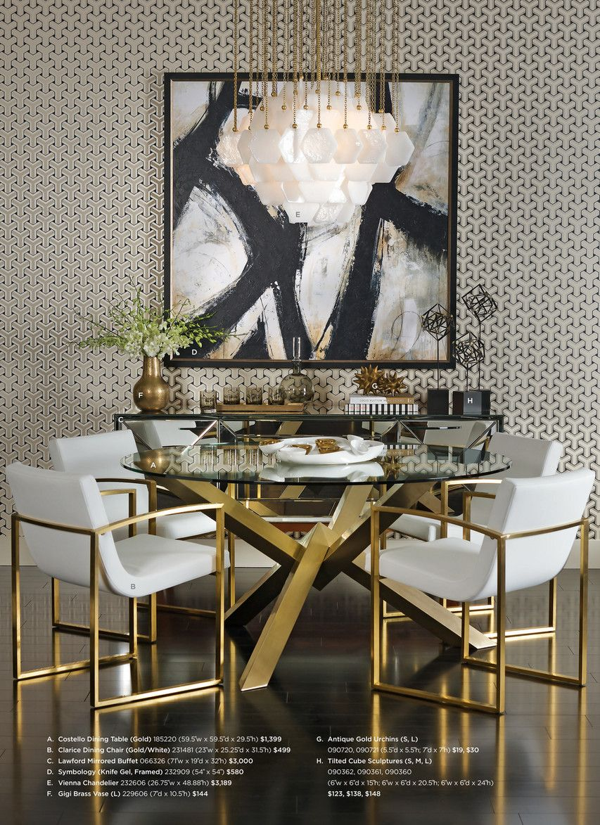 High Fashion Home Catalog Summer 2015 Page 76 77 Gold Dining