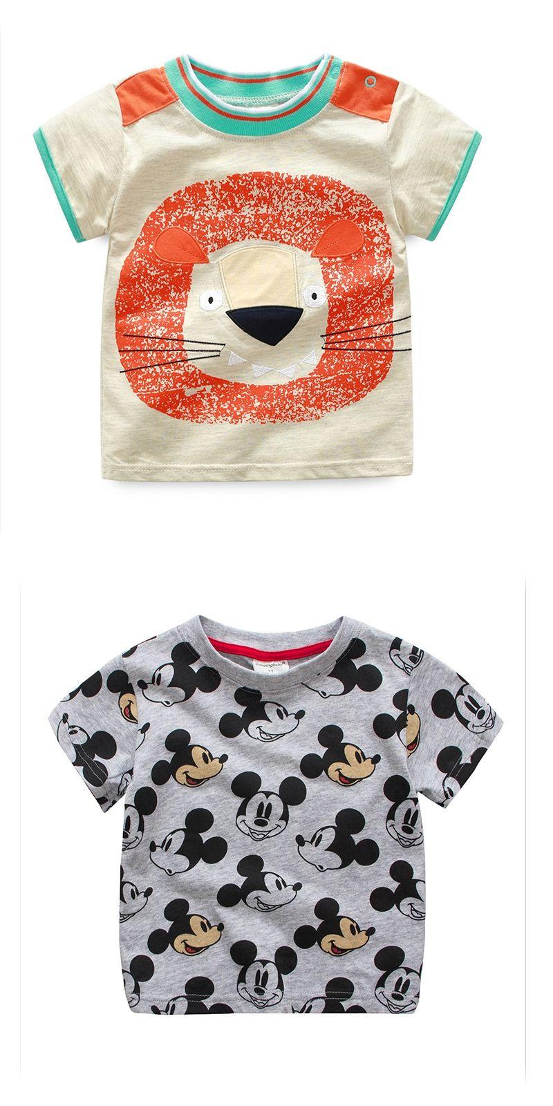 2017 Kids Fashion Boys T shirts Brand Children clothing 100% Cotton Top Tees  Cartoon Boy 5b8e4a274bd0