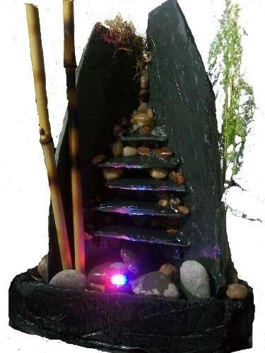 Fuente De Agua Feng Shui 5 Caidas C/luz ...armonía Y Estilo ...