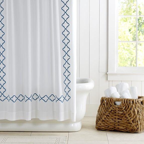 Williams Sonoma Home Moroccan Gate Shower Curtain Small Bathroom