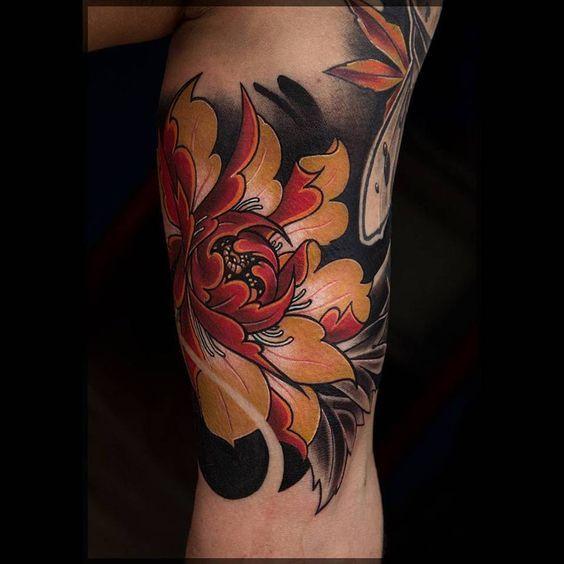 117 Tatuajes De Flores Para Hombres Masculinos Tatuajes De Flores Tatuajes Irezumi Brazos Tatuados