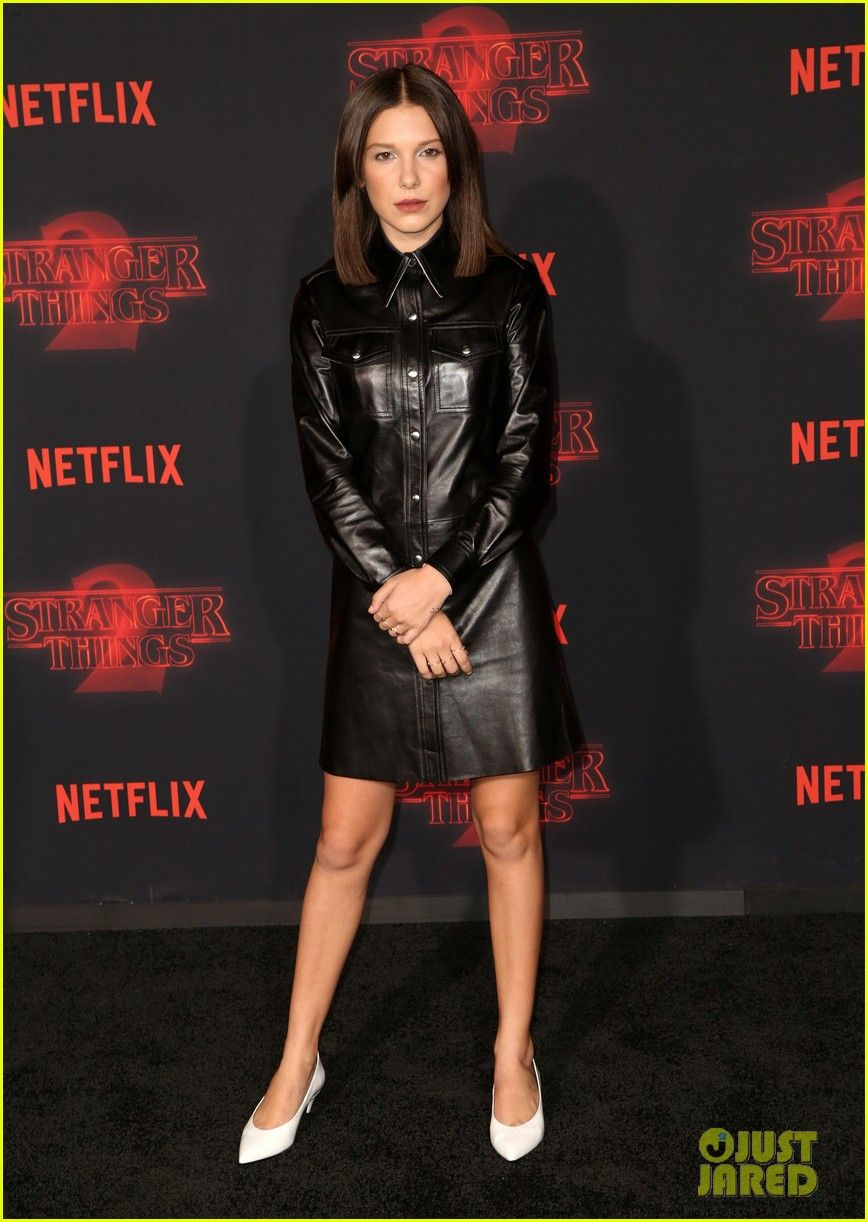 701d638a54bb Millie Bobby Brown    Stranger Things  Kids Premiere Season 2 in Los  Angeles!