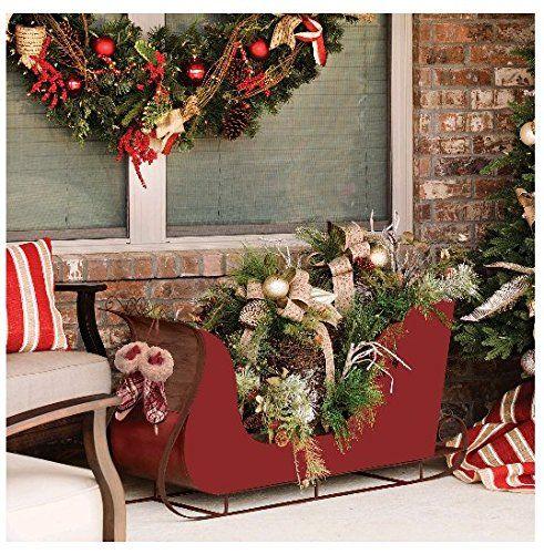 Sams Christmas Trees: Pre-Lit Lighted Christmas Holiday Decorated Winter Sleigh